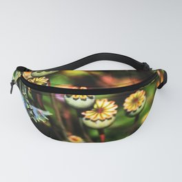 Poppy Flowers Pods Fanny Pack