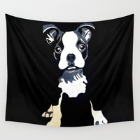 puppy Wall Tapestries featuring Cute Puppy by waggytailspetportraits