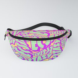 'Ecstacy' 70's Psych Poster Fade Pattern Fanny Pack