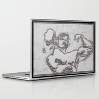 muscle Laptop & iPad Skins featuring Muscle by Saul Vargas