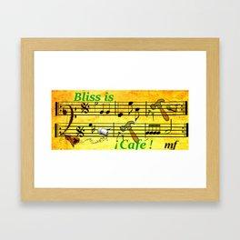 Bliss is Cafe Framed Art Print