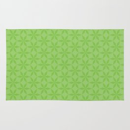 Spring Green Diamond Flowers Rug