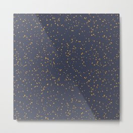 Speckles I: Dark Gold on Blue Vortex Metal Print