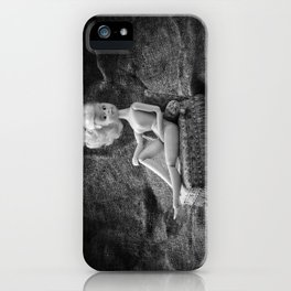 Girl and a Chaise Longue iPhone Case