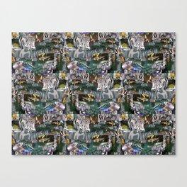 Aquarium Collage Canvas Print