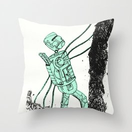 robot showbot Throw Pillow