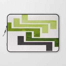 Sap Green Pattern Mid-century Modern Simple Geometric Pattern Watercolor Minimalist Art Squares Laptop Sleeve