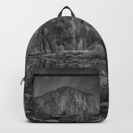 Valley View B & W 6656 - Yosemite National Park, CA Backpack