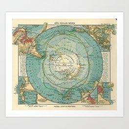 See Atlas 1906 - German Sea Atlas - Antarctica, Cape Town, Magellan Strait, Hobart, Port Elizabeth Art Print