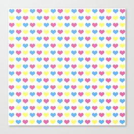 '80s hearts (larger) - Back to Basics Canvas Print