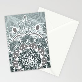 Buddha Mandala collage grey mosaic #society6 Stationery Cards