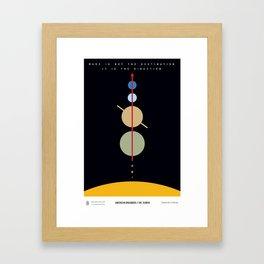 American Dreamers // Dr. Zubrin Framed Art Print