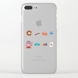Roulette, Slots, Chips, Dice, Diamond & Cards Nevada Day Clear iPhone Case