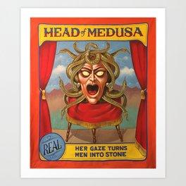 Head of Medusa Art Print