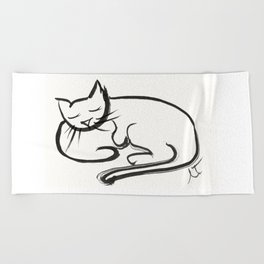 Cat II Beach Towel