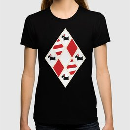 Scottie Dog Christmas Pattern T-shirt