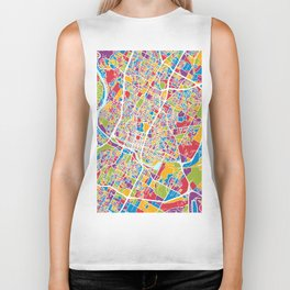 Austin Texas City Map Biker Tank