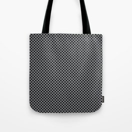 Sharkskin and Black Polka Dots Tote Bag
