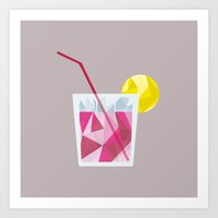 cocktail Art Prints featuring Cocktail by Alessandra Gagliano