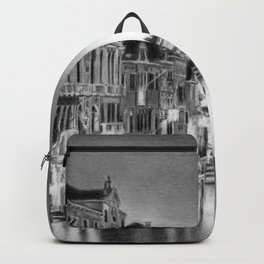 Venice Pencil Drawing Backpack