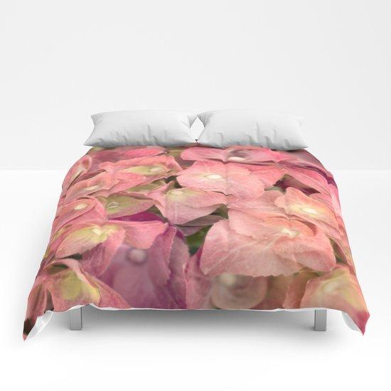 Pink hydrangea in LOVE Comforters