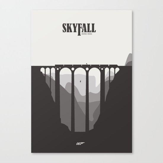 Skyfall - minimal poster Canvas Print