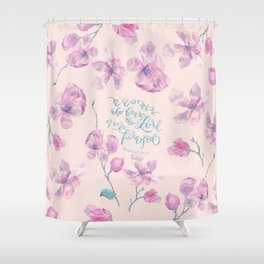 A Woman to be Praised - Proverbs 31:30 - For Mothers Shower Curtain