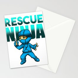 Rescue Ninja Nurse Nursing Aide Doctor Medical Health Check Cardio Physician Medic Hospital Gift Stationery Cards