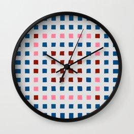 Color Blocks for Fun Wall Clock