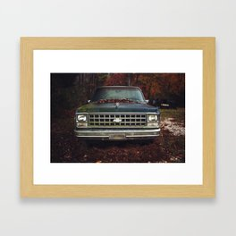 Old Growth Chevy Framed Art Print