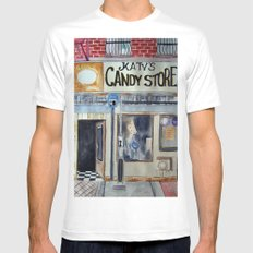 Candy Store MEDIUM Mens Fitted Tee White