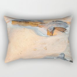 Rocks on beach, late afternoon Rectangular Pillow
