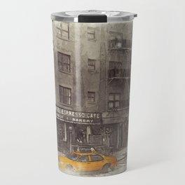 NYC Yellow Cabs Bagel Cafe - SKETCH Travel Mug
