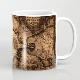 Antique World Map & Compass Rose Coffee Mug