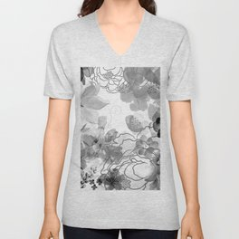 Rosie Outlook - grayscale Unisex V-Neck