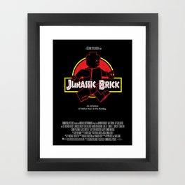 Jurassic Brick - A Steven Spielbrick Film - Poster Framed Art Print