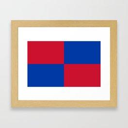 Flag of Harenkarspel Framed Art Print