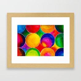 Geometric Brights #2 Framed Art Print