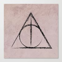 harry potter Canvas Prints featuring Deathly Hallows (Harry Potter) by Daizy Jain