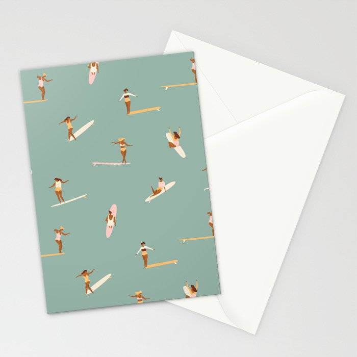 Surf sistas Stationery Cards