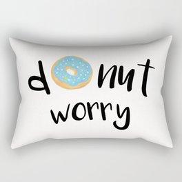 Donut Worry Blue Rectangular Pillow