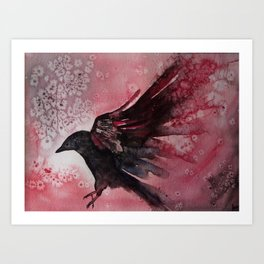 Abstract Crow Art Print