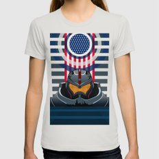 Pacific Rim v2 MEDIUM Silver Womens Fitted Tee