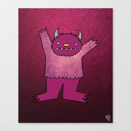 Violet Monster Canvas Print