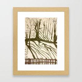 Back yard Framed Art Print