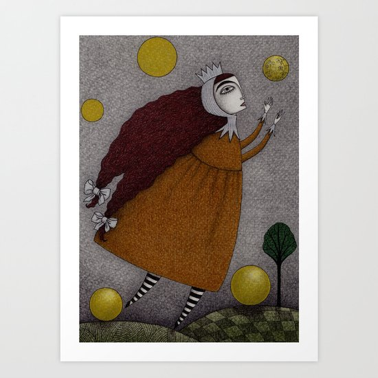Frogking (1) Art Print