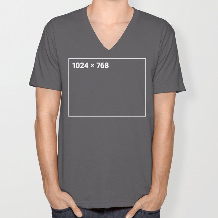 1024 x 768 white frame Unisex V-Neck