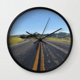 CA Road Wall Clock