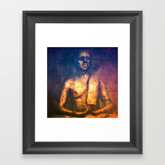 The Golden Buddha II Framed Art Print