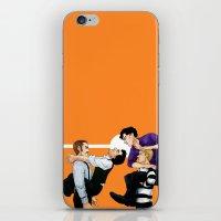 johnlock iPhone & iPod Skins featuring Sherlock vs. Holmes by Krusca